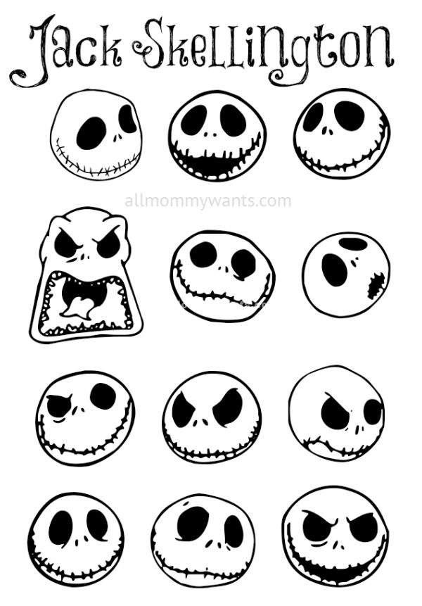 Pumpkin Face Drawing At Getdrawings Com