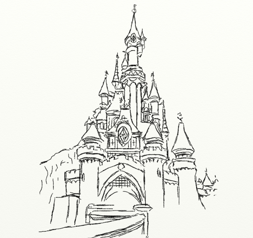 Fairy Tale Castle Drawing At Getdrawings