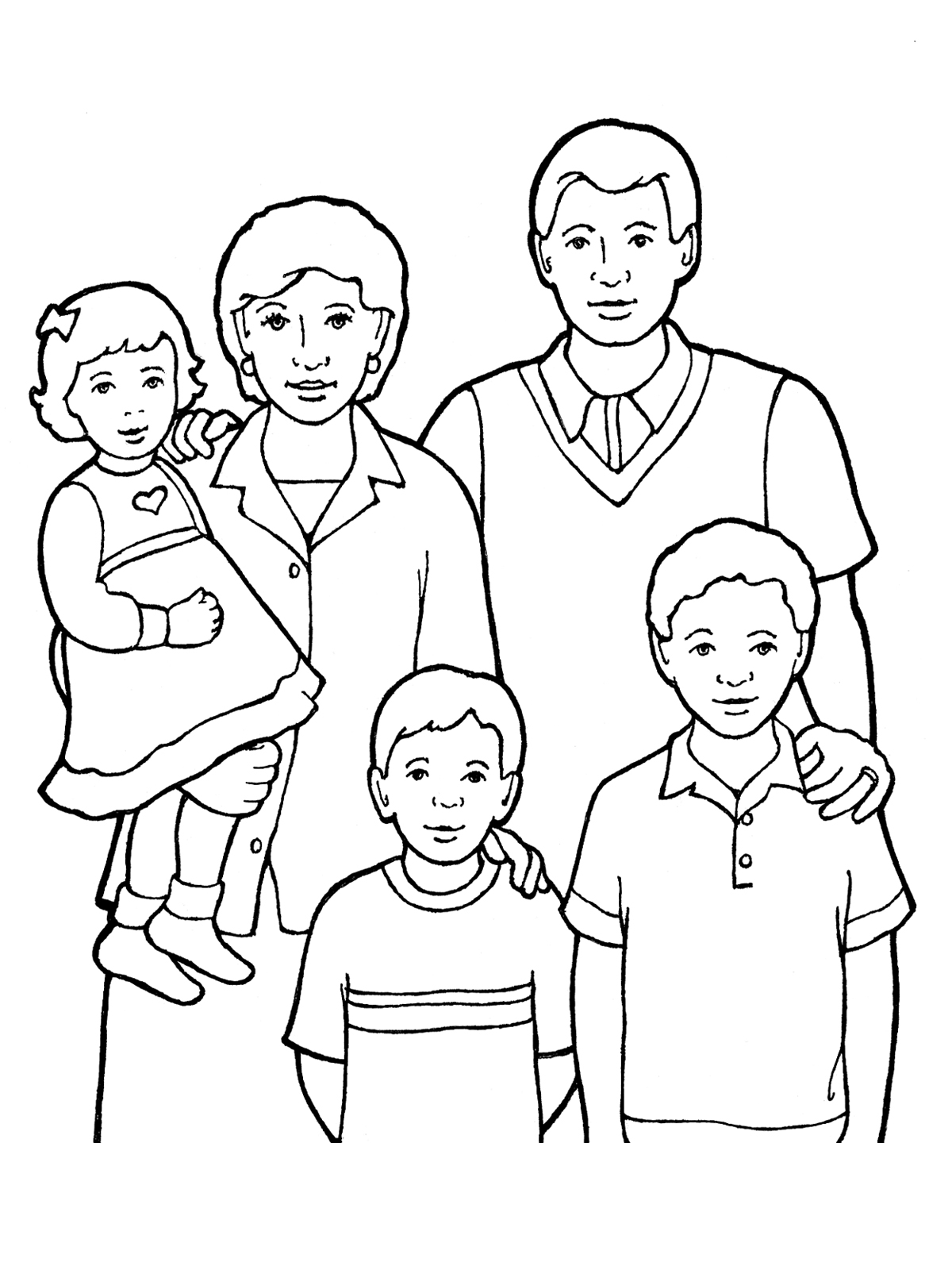 Family Members Drawing At Getdrawings