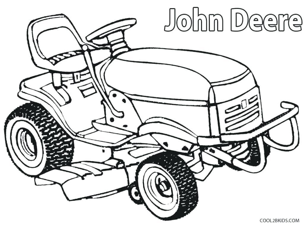 Kleurplaat Trekker John Deere • Kidkleurplaat.nl