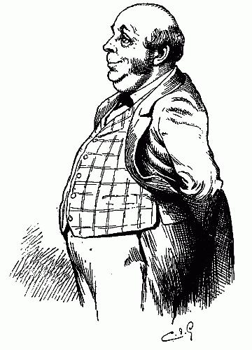Sketch Man Fat Horse