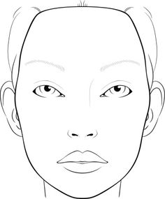 photograph relating to Makeup Face Template Printable known as Encounter Template For Make-up Style and design