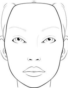 blank face charts for makeup artists also female drawing template at getdrawings free personal rh