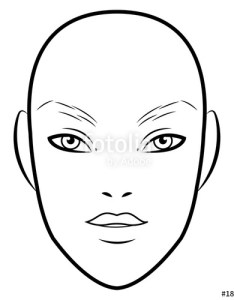 men face chart makeup artist blank template vector illustration also female drawing at getdrawings free for personal rh