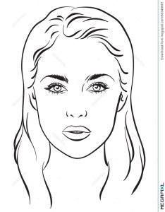 beautiful woman portrait face chart vector illustration also female drawing template at getdrawings free for personal rh
