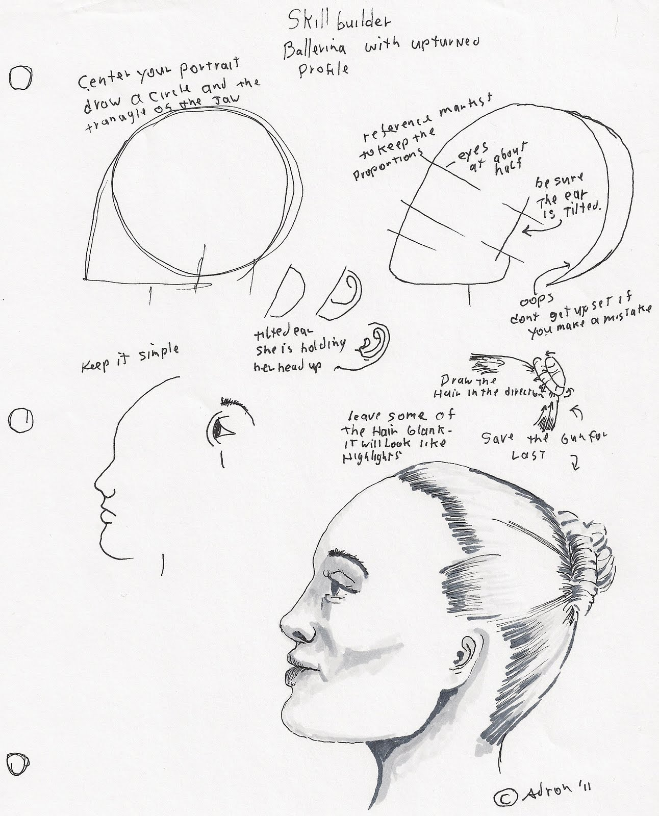 Female Face Profile Drawing At Getdrawings