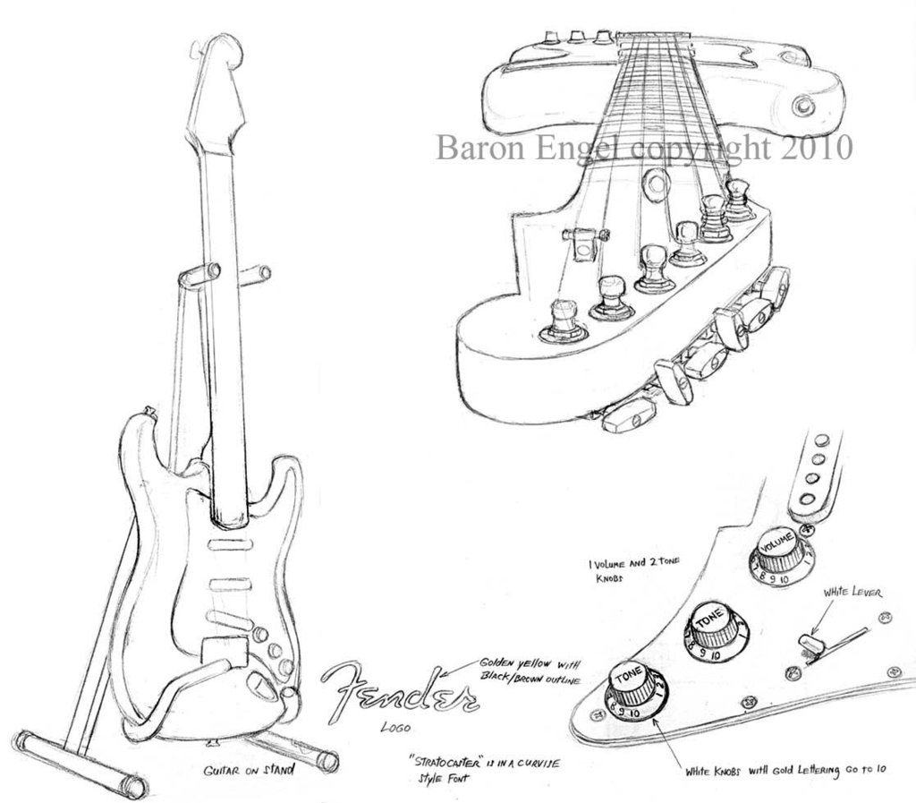 The best free Fender drawing images. Download from 131
