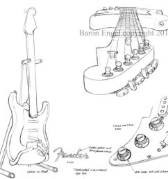 1024x897 fender stratocaster 02 by baron engel [ 1024 x 897 Pixel ]