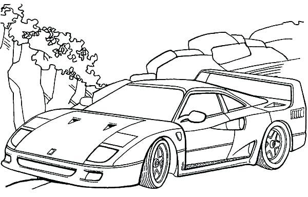ferrari 8 drawing at getdrawings  free download