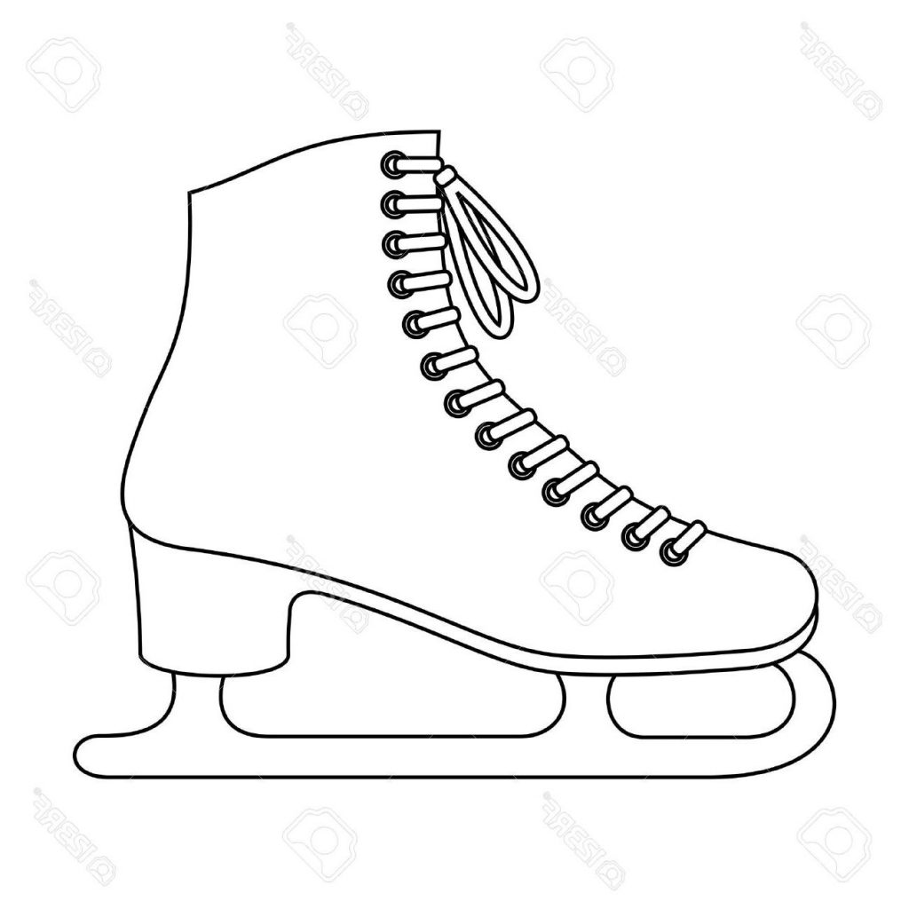 Figure Skates Drawing At Getdrawings