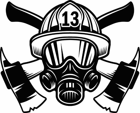 fire helmet drawing at