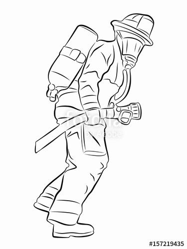 Fireman Helmet Drawing At Getdrawings Com