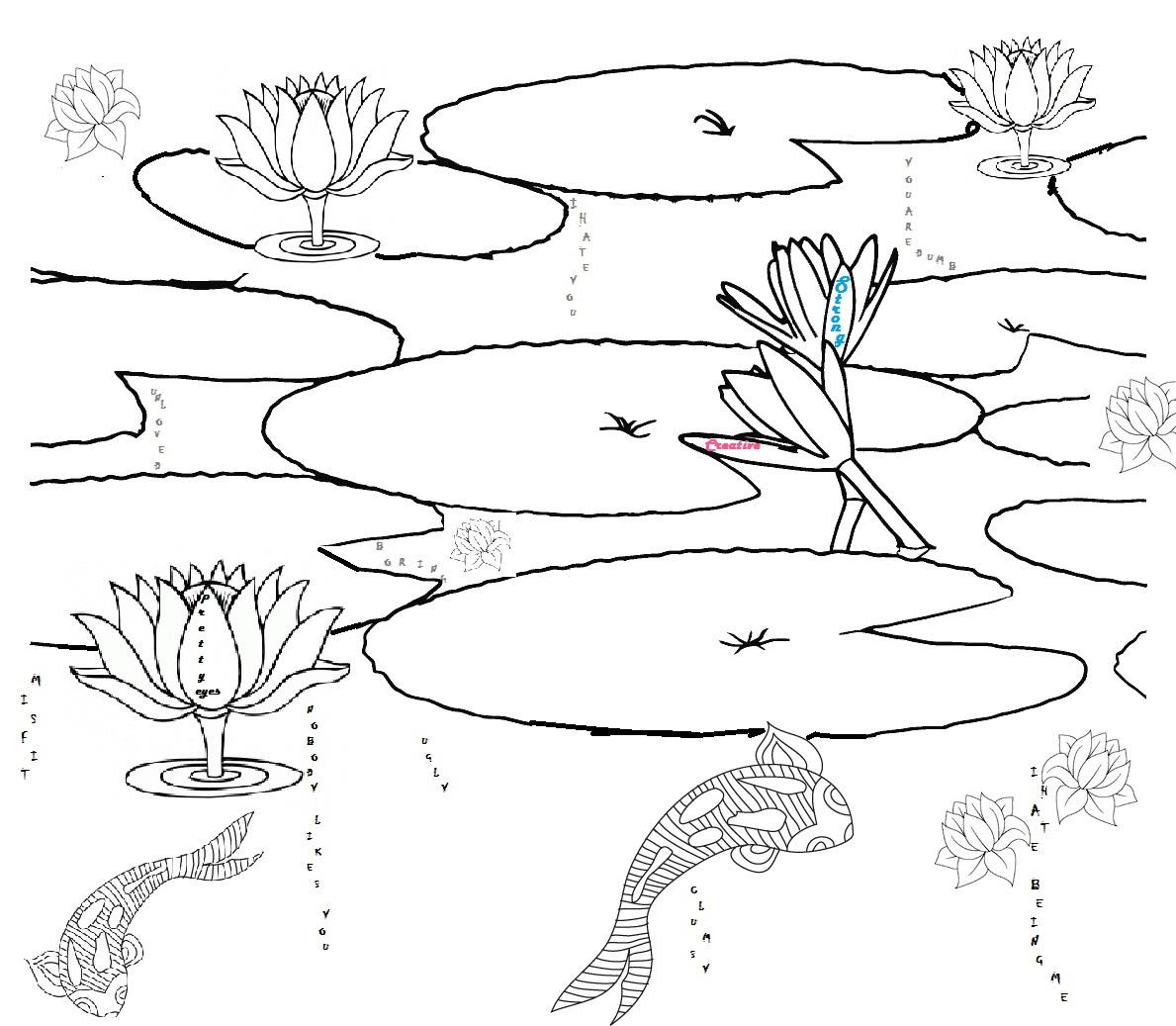 Fish Pond Drawing At Getdrawings