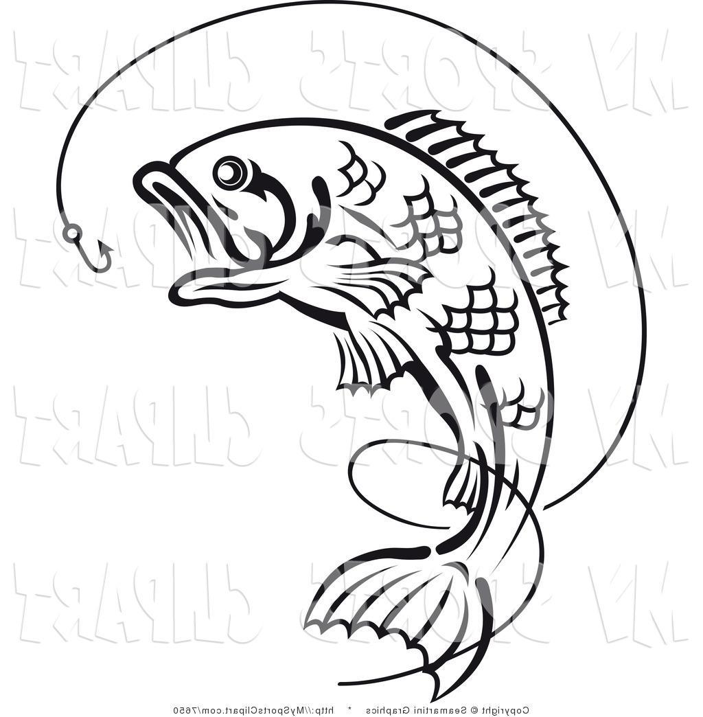 Simple fishing reel drawing