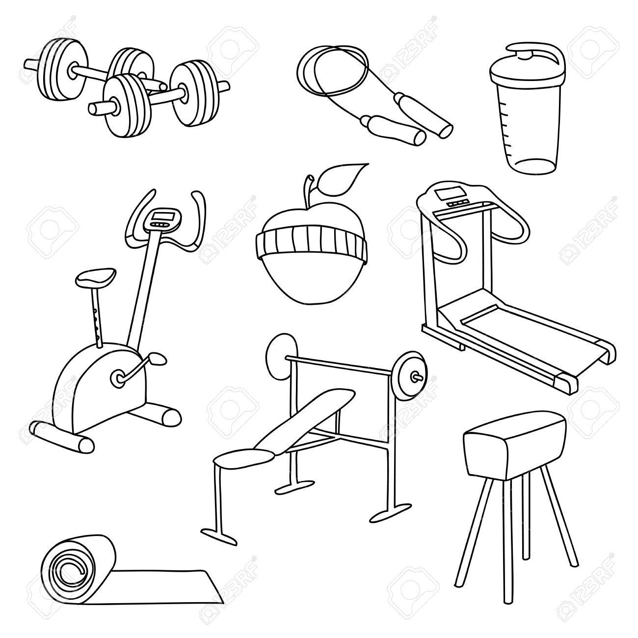 Fitness Drawing At Getdrawings