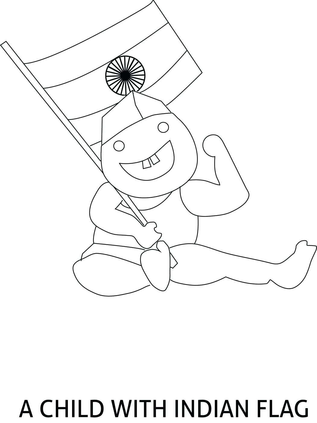 Flag Of India Drawing At Getdrawings