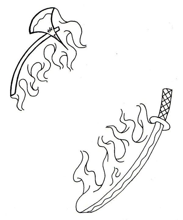 Flaming Skull Drawing At Getdrawings Com