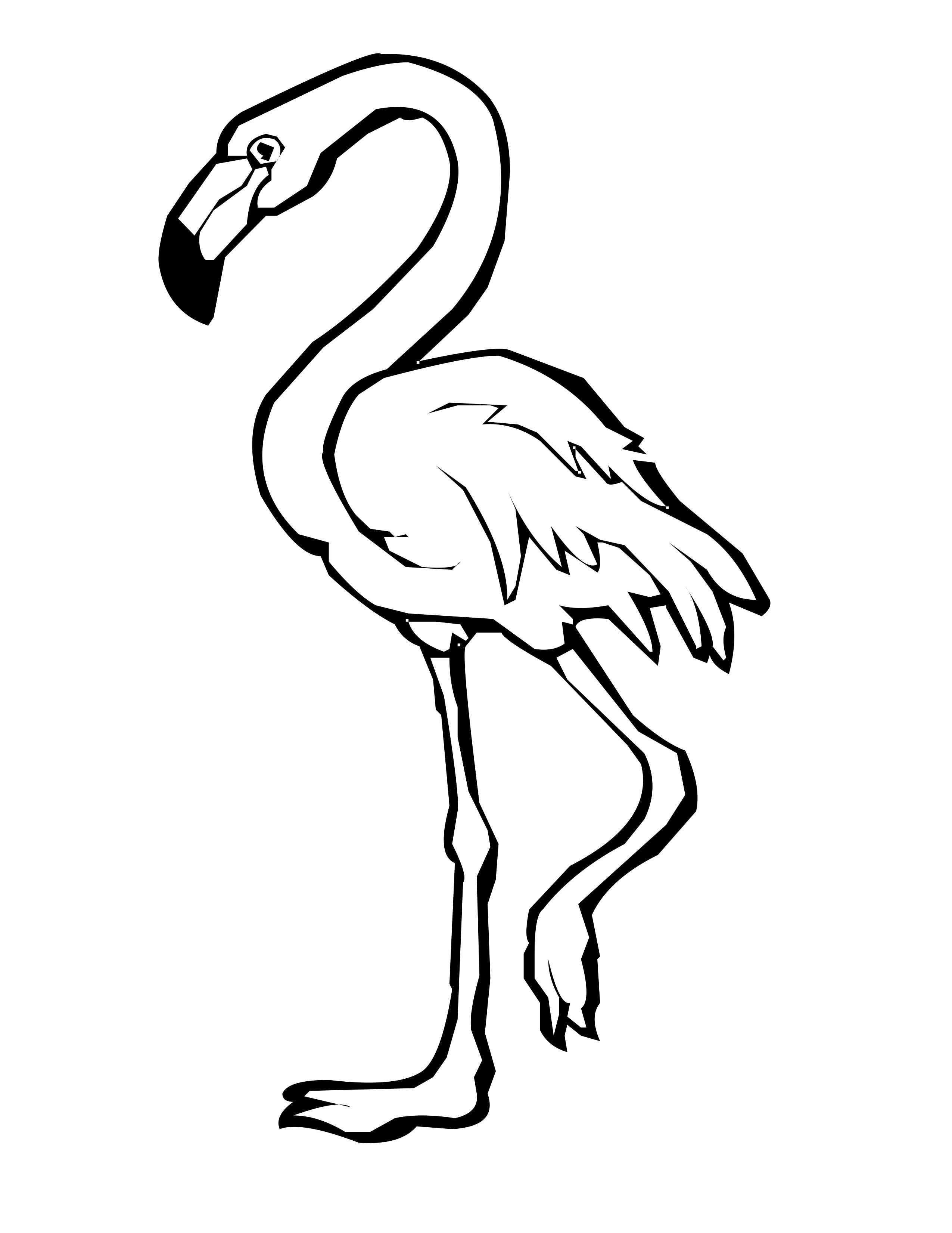 Flamingos Drawing At Getdrawings