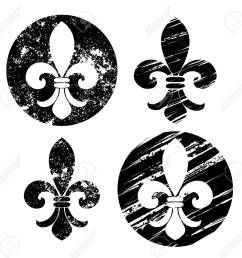 1300x1264 set of fleur de lis painted in black on a white background [ 1300 x 1264 Pixel ]