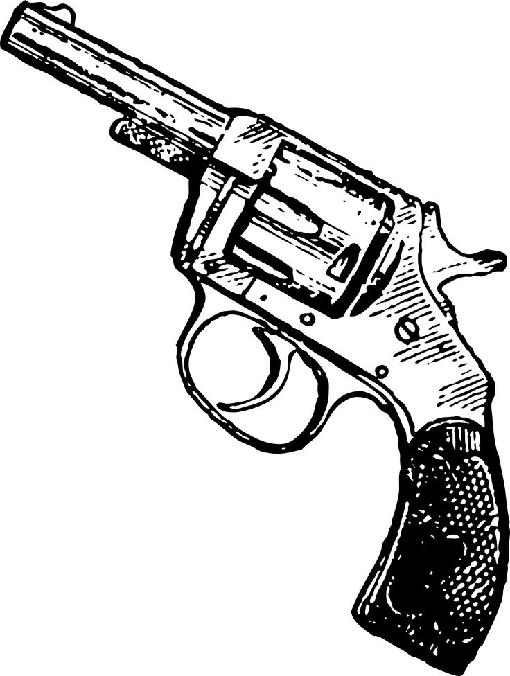 crossed flintlock pistol drawing Long Flintlock Pistol