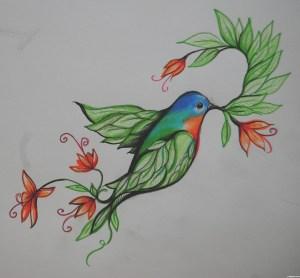 bird drawing paradise flower easy draw contest drawings pxleyes step td result getdrawings rank sbs favs score views hi res