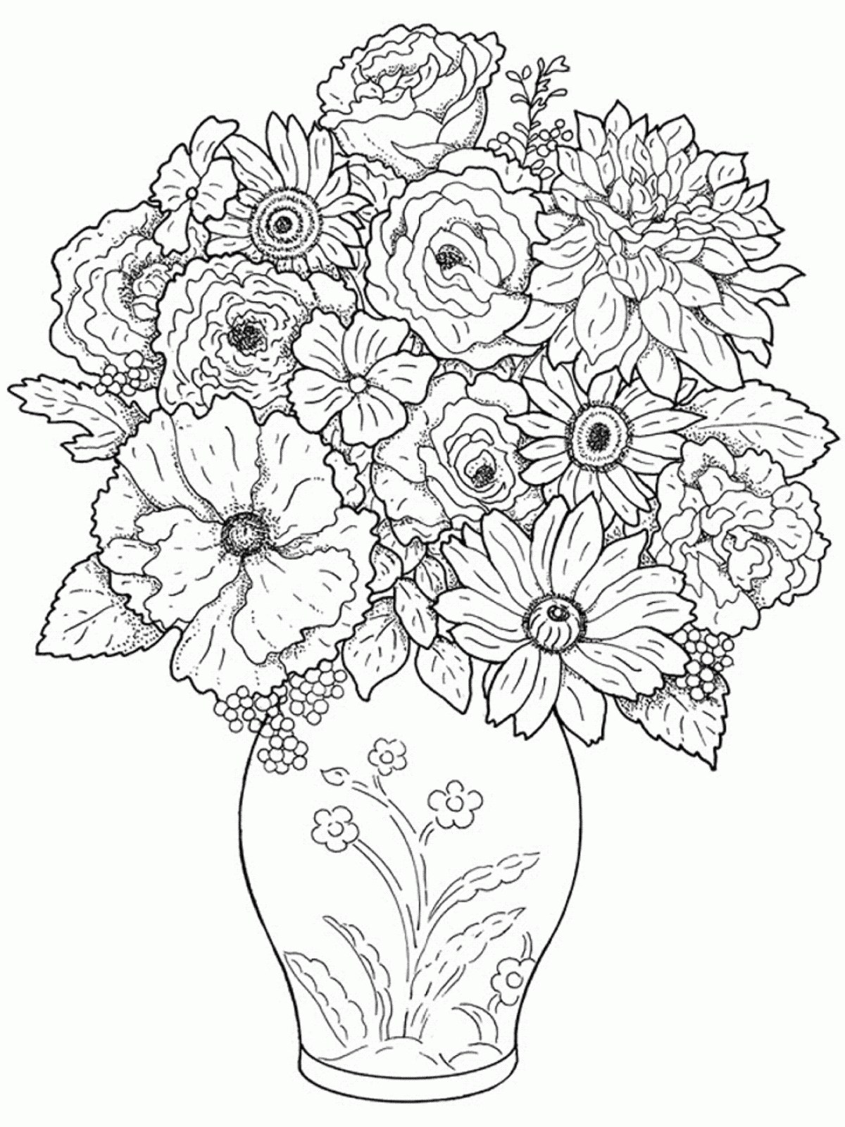 Flower Pot Drawing Images At Getdrawings
