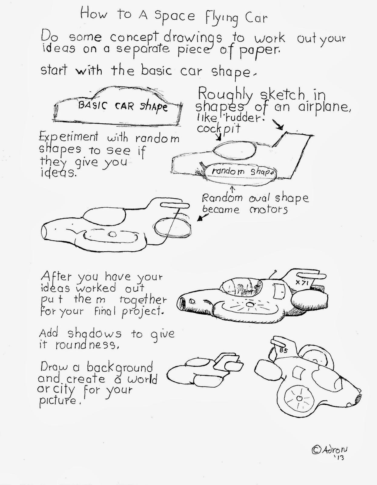 Flying Car Drawing At Getdrawings