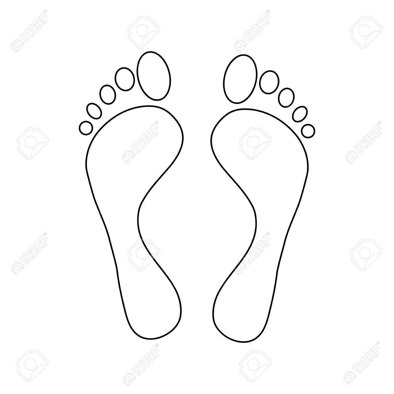 Foot Outline Drawing At Getdrawings