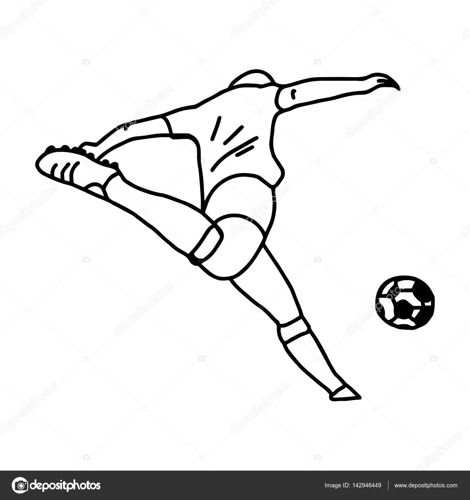 Football Player Line Drawing At Getdrawings
