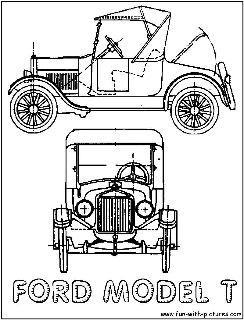 medium resolution of 800x1050 model t ford modern history coloring book ford