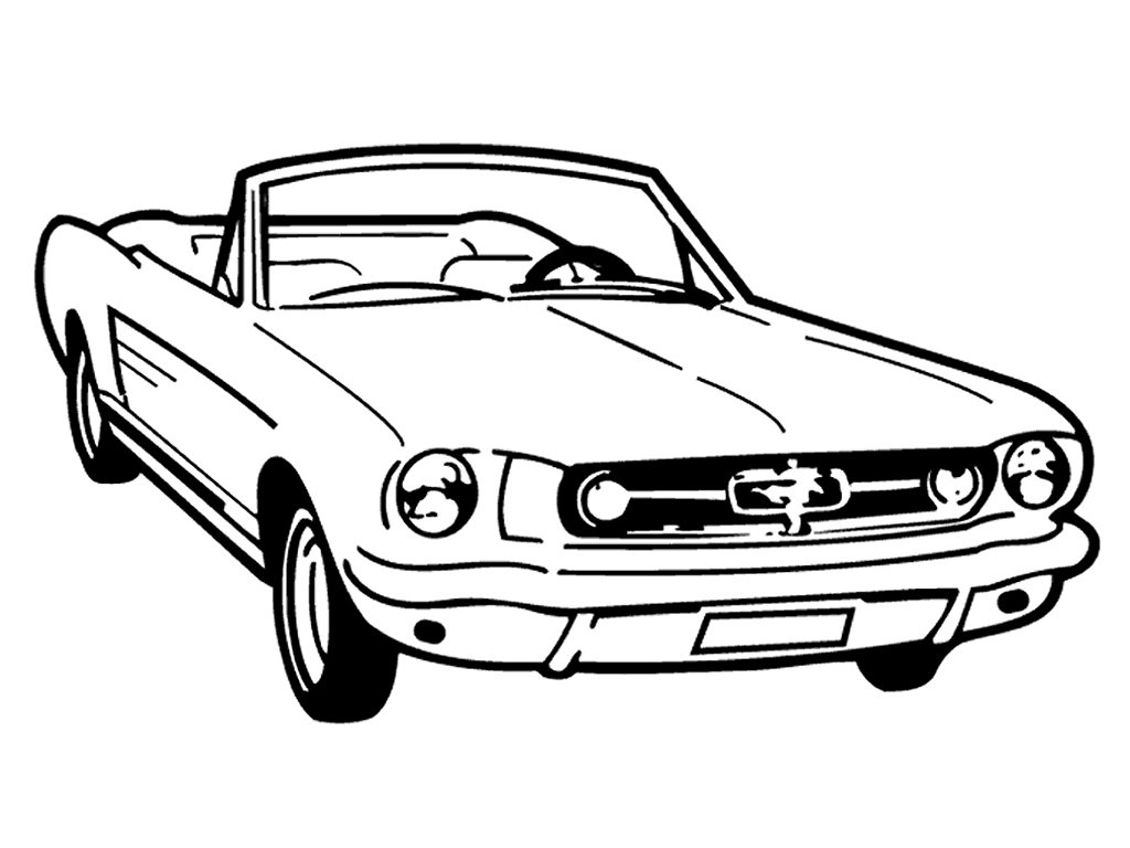 Ford Mustang Drawing At Getdrawings