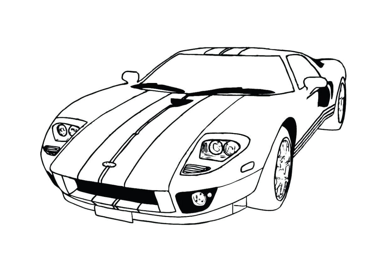 Ford Mustang Gt Drawing At Getdrawings