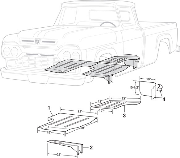 1956 Ford F100 Long Bed