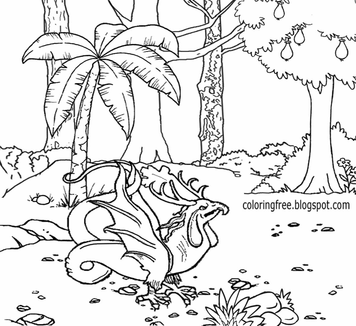Forest Drawing For Kids At Getdrawings