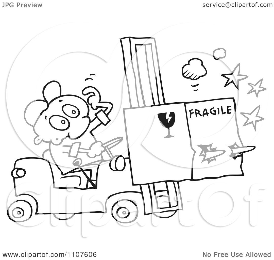 Fork Lift Drawing At Getdrawings