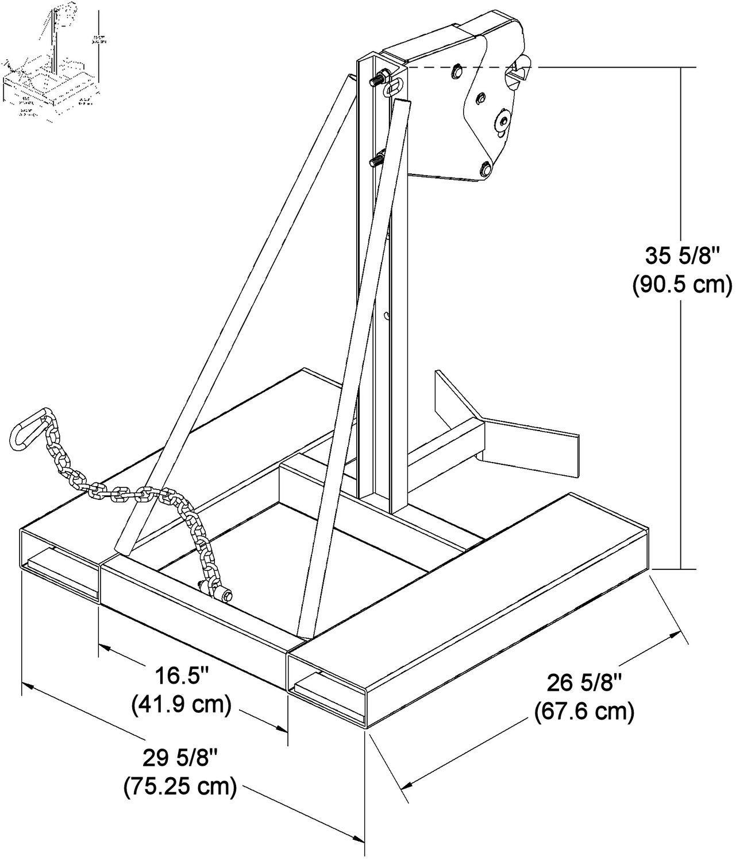 hight resolution of 1307x1500 fork manipulator drum for forklift trucks chain