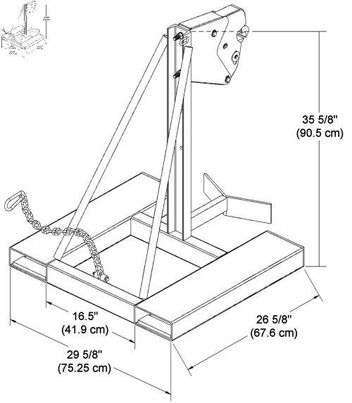small resolution of 1307x1500 fork manipulator drum for forklift trucks chain