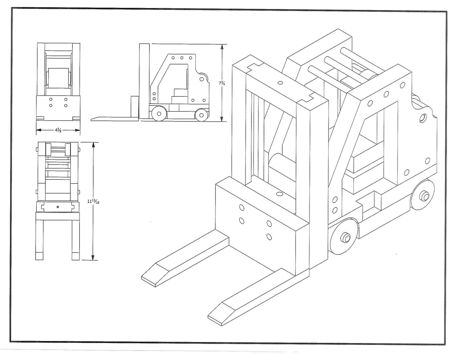hight resolution of 1500x1159 forklift toy plan from allnaturaltoyplans on etsy studio