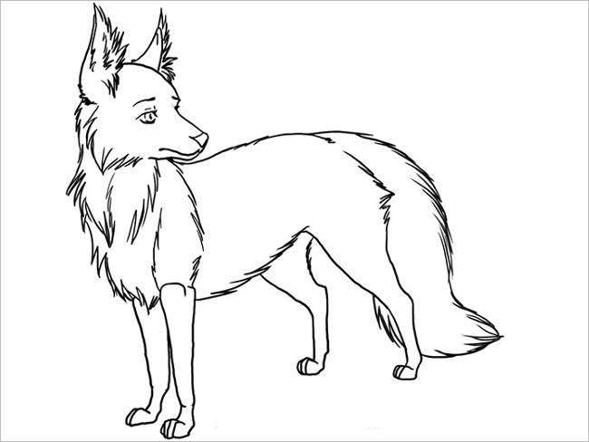 Fox Drawing Outline At Getdrawings Com