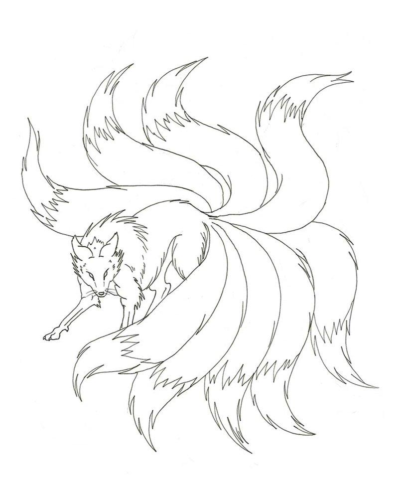 Fox Tail Drawing : drawing, Drawing, GetDrawings, Download