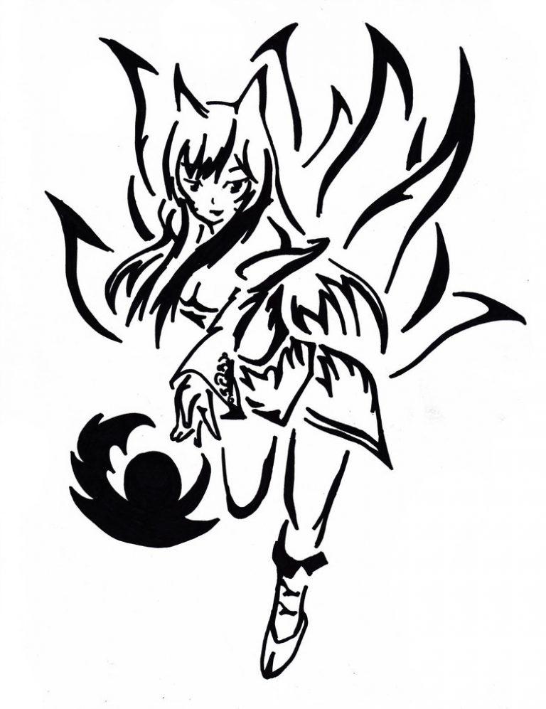 Fox Head Hand Drawn Sketch Animal Ethnic Patterned