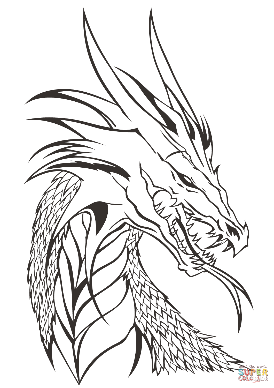 Free Dragon Drawing At Getdrawings