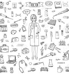 1300x1300 hand drawn doodle doctor icons set vector illustration sketch [ 1300 x 1300 Pixel ]