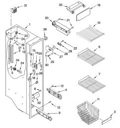 3348x4623 freezer wire shelf track 2301289 2301136 right side [ 3348 x 4623 Pixel ]