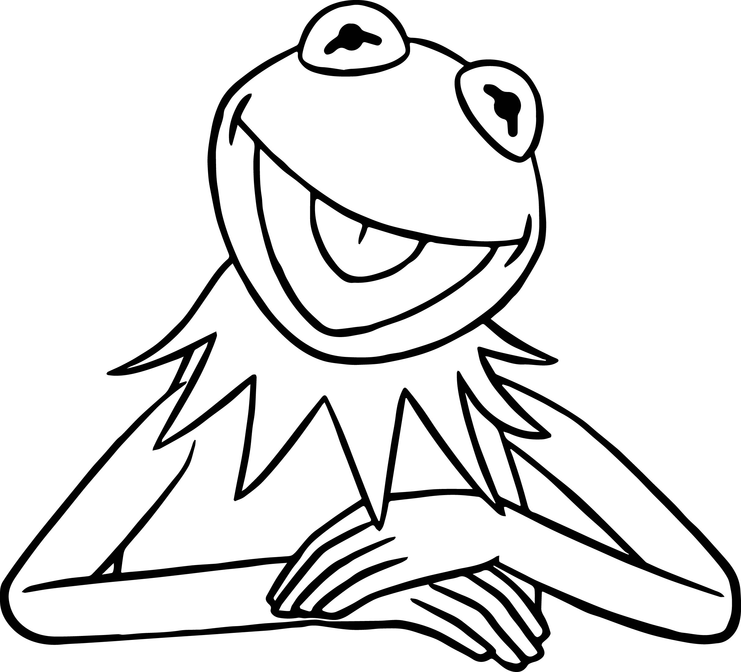 Frog Line Drawing At Getdrawings