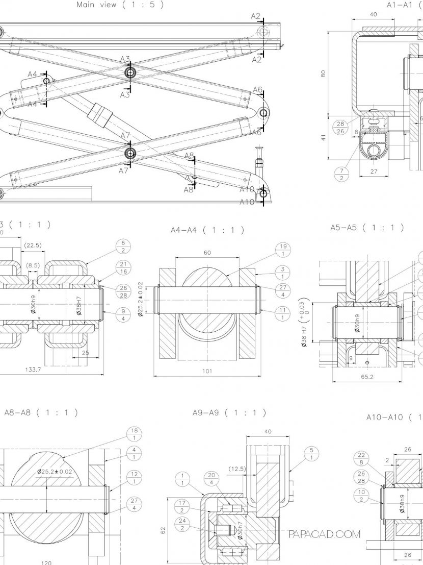 Boom Lift Autocad Drawing Free Download • Oasis-dl.co