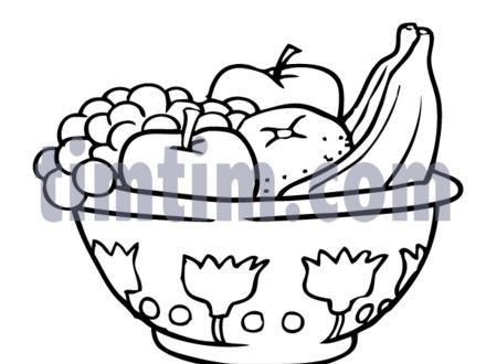 Fruit Bowl Drawing at GetDrawings.com