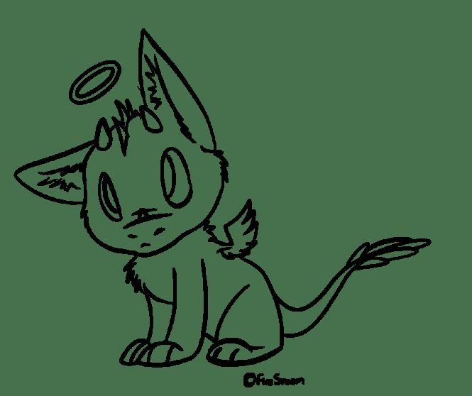 876x735 Lil 39 Angel Dragon Free Line Art By Firestoem