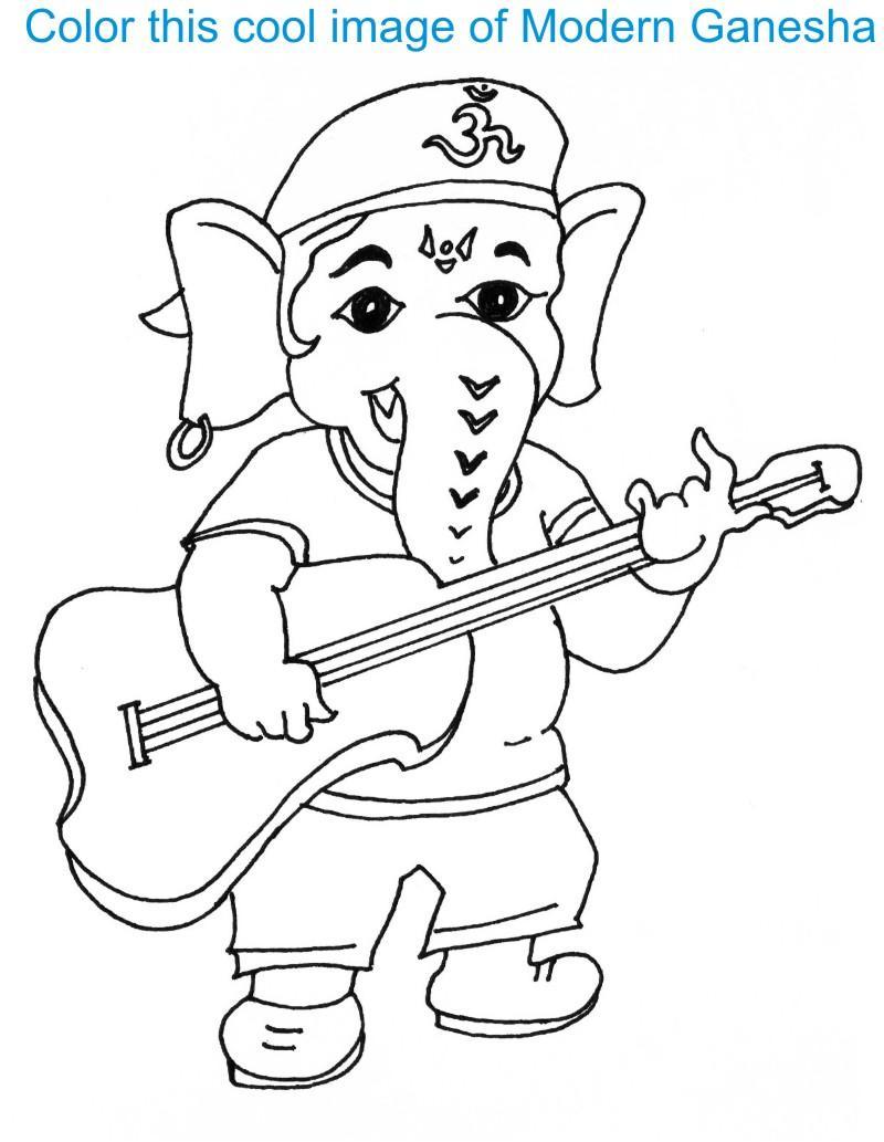 Ganesh Drawing For Kids : ganesh, drawing, Ganesh, Drawing, GetDrawings, Download