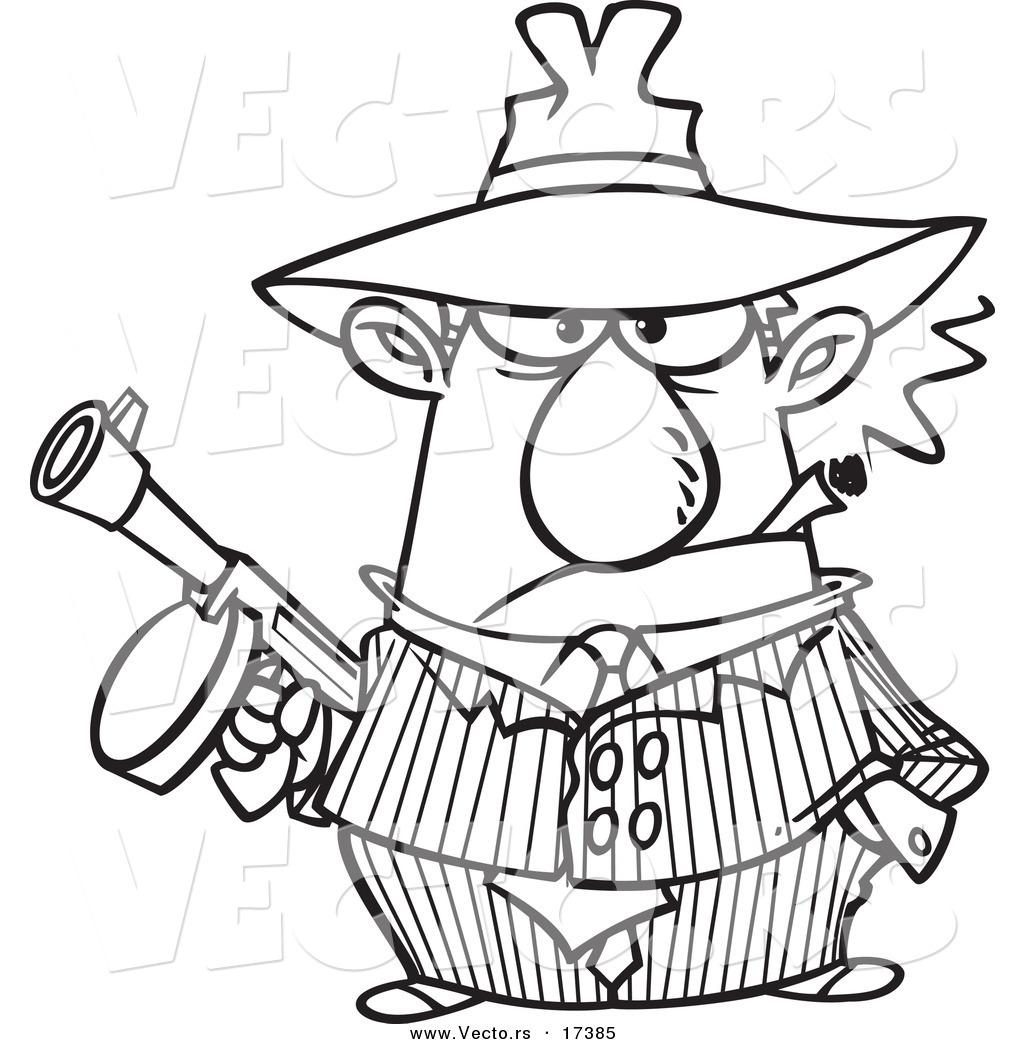 Gangster Cartoon Drawing At Getdrawings